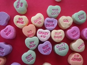 It might just be me, but I'm pretty sure the conversation hearts of my youth were more innocent.