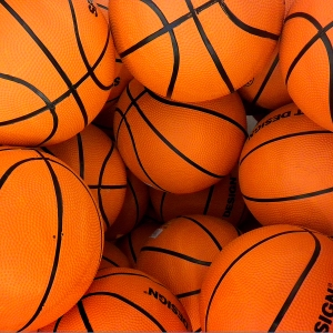 """Because nothing says """"This is a real sport"""" like an orange ball. photo credit: arbyreed via photopin cc"""