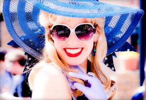 I could never pull off this look. I'm also not a sun hat person.   photo credit: nickel.media via photopin cc