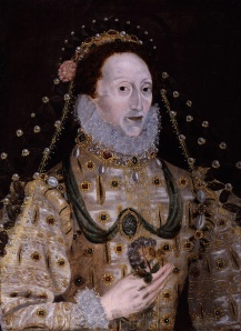 Queen Elizabeth I didn't get the memo about the cleavage. Evidently she had no sense of style at all.