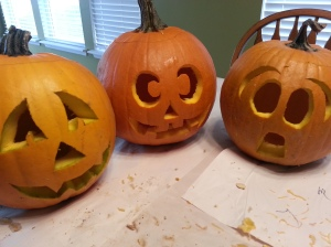 Uh oh. These pumpkins don't look like they're feeling so well.
