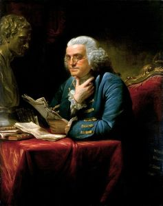 Benjamin Franklin, reviewing his collection of turkey recipes.