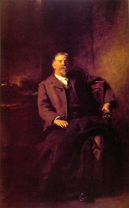 Henry Lee Higginson, who probably also wanted those dadgum teenagers to get off his lawn.  John Singer Sargent [Public domain or Public domain], via Wikimedia Commons