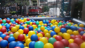 Ball pits aren't just for kids anymore. Well, but they do have a separate one for the wee kiddos, so go ahead. Jump in and play some dodgeball will your obnoxious pre-teens. Just no head shots or you'll be asked to leave.