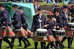 I even tried to convince him he'd rather be a drummer.  photo credit: Shotts Highland Games_1982 via photopin (license)