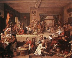 An Election Entertainment by William Hogarth. Public Domain, via Wikimedia Commons
