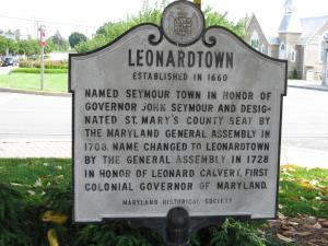 Seems like a nice town, but what the sign doesn't say is that 300 years ago it was cursed by a witch. photo credit: Leonardtown, Maryland via photopin (license)