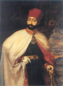 Sultan Mahmut II sporting his modern look. Public Domain, via Wikimedia Commons
