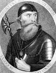 Robert the Bruce, a tough, determined man, but possibly not the one you want to call if you need someone to squish a spider for you. Public Domain, via Wikimedia Commons